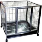 2.5 FT BLACK/SILVER HAMMER TONE CAGE STRUCTURE TR-509F