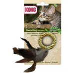 STRAW RING WITH FEATHERS CW43