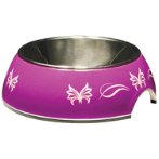 STYLE BOWL w SS INSERT PUR BUTTERFLY - 160ml 54528