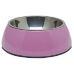 DURABLE BOWL w SS INSERT - PINK EXTRA SMALL 73535