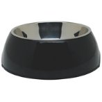 DURABLE BOWL w SS INSERT - BLACK MEDIUM 73550