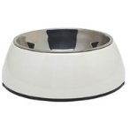 DURABLE BOWL w SS INSERT - WHITE MEDIUM 73551