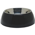 DURABLE BOWL w SS INSERT - BLACK LARGE 73556