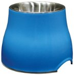 ELEVATED DISH w SS INSERT - BLUE SMALL 73743