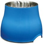 ELEVATED DISH w SS INSERT - BLUE LARGE 73751