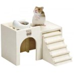 HAMSTER WOODEN DISH TABLE (19.8x19.2x12.7cm) MEDIUM HT35