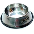 STEEL BOWL w BONE (LARGE) (22oz) YE73606L
