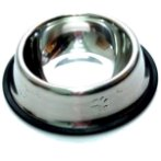 STEEL BOWL WITH PAW (SMALL)(8oz) YE73607S