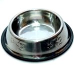 STEEL BOWL w PAW (MEDIUM) (12oz) YE73607M