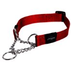 UTILITY - FANBELT OBEDIENCE HALF CHECK - RED  (LARGE) RG0HC06C