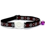 CAT COLLAR WITH CROSS (RED) BW/NYCTN10RD