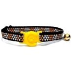 CAT COLLAR WITH CROSS (YELLOW) BW/NYCTN10YL