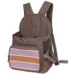 BACKPACK CARRIER WITH STRIPE (BROWN WITH PURPLE) ASD012078-07