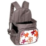 BACKPACK CARRIER WITH FLOWER (BROWN RED) ASD012078-09