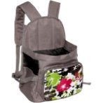 BACKPACK CARRIER WITH FLOWER (BROWN WITH GREEN) ASD012078-10