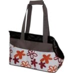 WATERPROOF CARRIER WITH FLOWER (BROWN WITH RED) ASD022019-06