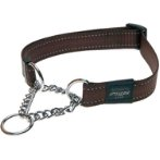 UTILITY-FANBELT OBEDIENCE HALF CHECK - CHOCOLATE (LARGE) RG0HC06J