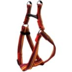 HARNESS WITH STRIPE (RED)(15mm*30-50cm) BW/NYHA15PRD