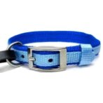 DOG COLLAR (DOUBLE WEBBING)(BLUE)(20mm*40-55cm) BW/NYCR20PBBL