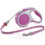 RETRACTABLE LEASH - VARIO CORD X-SMALL 3m - PINK FVCXSPINK