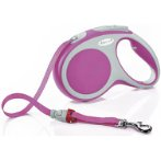 RETRACTABLE LEASH - VARIO TAPE SMALL 5m - PINK FVTSPINK