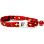CAT COLLAR-TROPICAL FISH (RED) BW/SCCTFISHRD