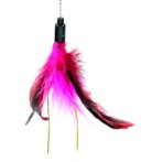 CAT TEASER - LONG STICK WITH FEATHER (RED) BW/AT3612