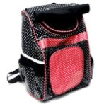 PET POLKA DOTS BAG (BLACK/PINK) DAP022014