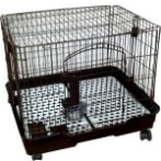 CAGE FOLDABLE (SMALL ANIMAL/DOG) (BROWN) DAP022008BN