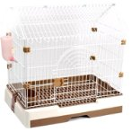 SMALL ANIMAL CAGES - HOUSE (BROWN) (SMALL) JNB227
