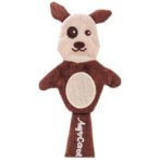 LINEN CAT TOY - DOG (BROWN) BW/AT2447