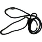 DOG LEASH ADJUSTABLE LOOP - ROPE (BLACK) (MEDIUM) BWNLN13OBKM