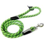 REFLECTIVE DOG LEASH - ROPE (GREEN) (MEDIUM) BWNLI13NGNM
