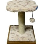 CAT TREE 2 TIERS WITH REST & TOY (FLORAL) YS1501180