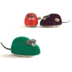 VELVETY WIND UP MOUSE (ASSORTED) BT0440377