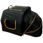 PET CARRIER WITH NET (BLACK WITH ORANGE) (SMALL) SUN0DCC10612BS