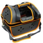 PET CARRIER WITH VENT HOLE (GREY WITH ORANGE) SUN0DCC3025