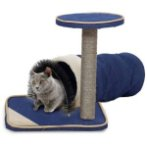 CAT TREE 2 TIER WITH TUNNEL (BLUE) YS89350