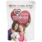 CHICKEN & CRANBERRY MINI COOKIES 300g LE406