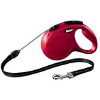 RETRACTABLE LEASH - NEW CLASSIC CORD RED - MEDIUM 5m (20kg) FNCCORDMED-RED