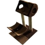 CAT TREE 2 TIER WITH REST & BED (BROWN) YZJS15165