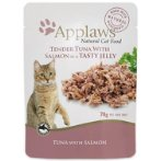 POUCH TUNA WHOLEMEAT WITH SALMON IN JELLY (CATS) 70g MPM08256