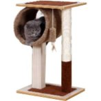 CAT TREE 2 TIER WITH TUNNEL (BROWN) YS93220