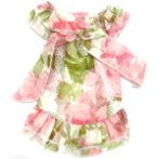 FLORAL DRESS (PINK)(EXTRA SMALL)(SIZE 8) BL0S571PK8
