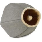 LINEN CAT CAVE WITH TOY (BEIGE/ GREY) UP0UP5222TO