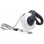 MARS RETRACTABLE LEASH (WHITE/BLACK) (EXTRA SMALL) (3m- up to 12kg) BR0MARS3XSWT