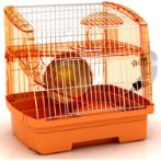 CRYSTAL HAMSTER CAGES - 2 DECK (ORANGE) JNP1107OG