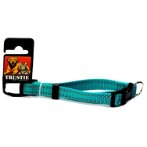 REFLECTIVE DOG COLLAR (BLUE) (MEDIAN) (15mm x 25-40cm) BWDC1712BUM