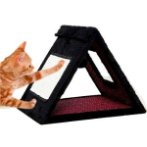TRIANGLE CAT SCRATCHER (BLACK WITH RED) YS95741