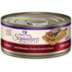 SIGNATURE SELECTS CHUNKY BEEF & CHICKEN IN SAUCE FOR CATS 5.3oz WN-CCSSCBC